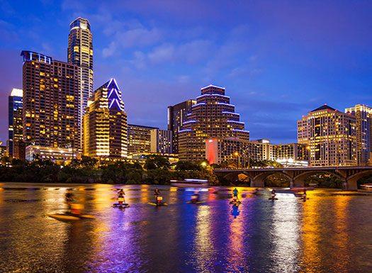 Austin Skyline at Night